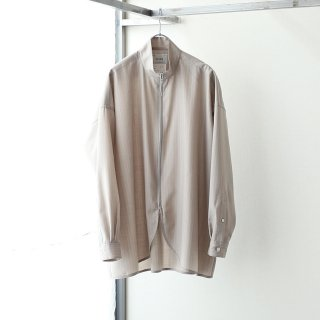 SOUMO - FULL ZIP SHIRTS (BEIGE ST)