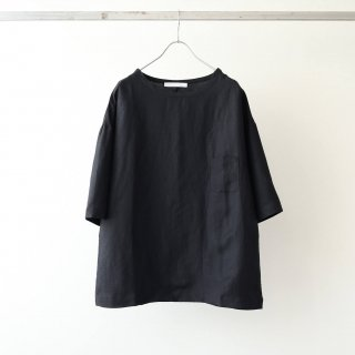 THEE - linen rayon t-shirt (black)