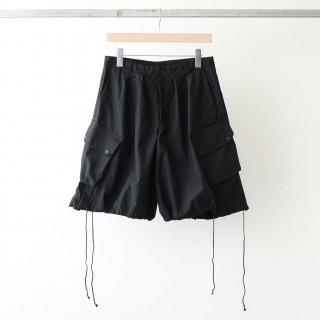 foof - over dye cargo shorts (black)