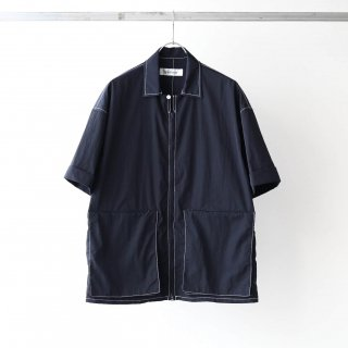 prasthana - east wind work shirt (navy)