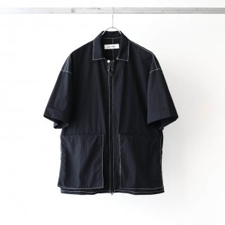 prasthana - east wind work shirt (black)