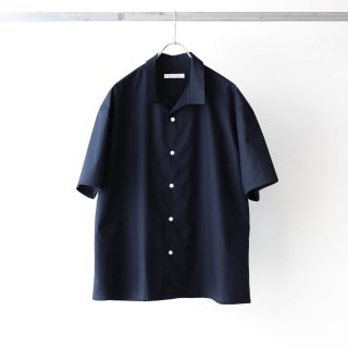 tilt The authentics - Italian Collar Comfort Shirt (Dark Navy)