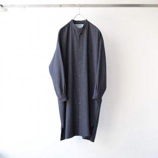 Dulcamara - ネップツイルサイドZipロングシャツ (Charcoal Gray)