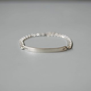 <img class='new_mark_img1' src='https://img.shop-pro.jp/img/new/icons54.gif' style='border:none;display:inline;margin:0px;padding:0px;width:auto;' />20/80 - sterling silver id bracelet 5mm width