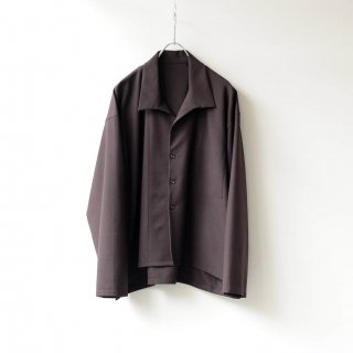 THEE - side slit jacket (brown)