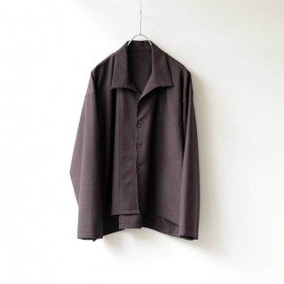 THEE - side slit jacket (brown)