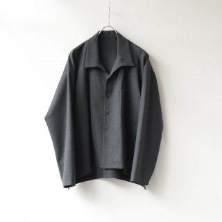 THEE - side slit jacket (charcoal)
