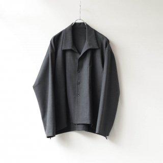THEE - side slit jacket (charcoal)