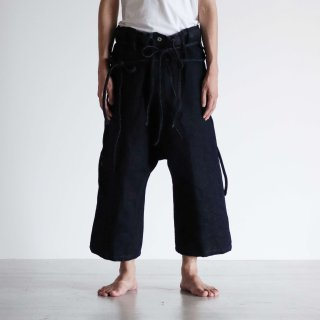 SOUMO - SUPER LOWTENSION PAPER DENIM / DRAWSTRINGS TROUSERS