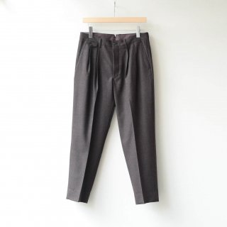 tilt The authentics - 2Tuck  Wool Serge Tapered Trousers (Mix Brown)