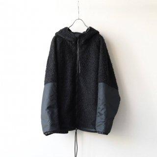 prasthana - loop yarn zip parka (black)