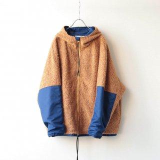 prasthana - loop yarn zip parka (camel)