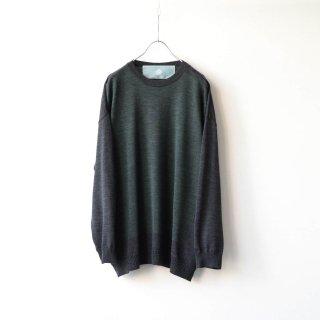 Dulcamara - バイカラーニットPO (Green)