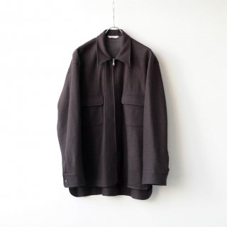 THEE - wool jersey CPO shirt (brown)