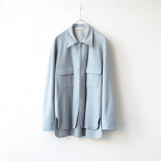 THEE - wool jersey CPO shirt (sky)