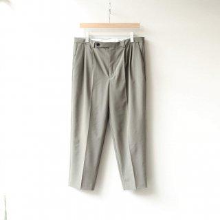 foof - 2 tuck slacks (khaki beige)