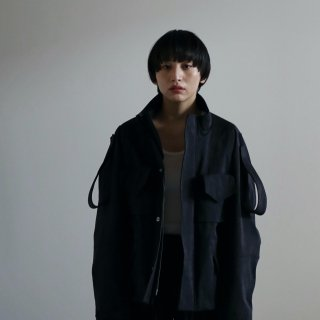 SOUMO - FIELD JACKET / SUPER HIGH DENSITY CLOTH (BLACK)