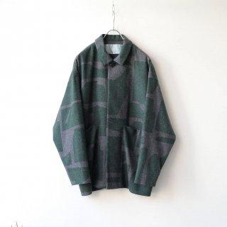 Dulcamara - スクラッププリントBigポケットBL (Charcoal Gray)