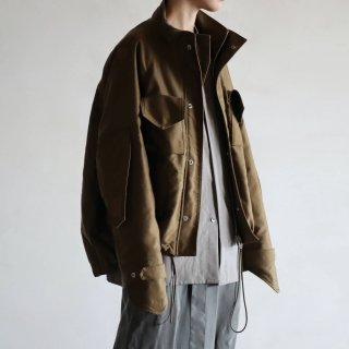 SOUMO - FIELD JACKET / GIZA MOLESKIN CLOTH (KHAKI)