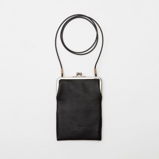 20/80 - SHRINK LEATHER GAMAGUCHI SQUARE SHOULDER BAG