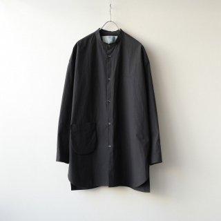 Dulcamara - スタンドカラーポケットシャツ (Black)