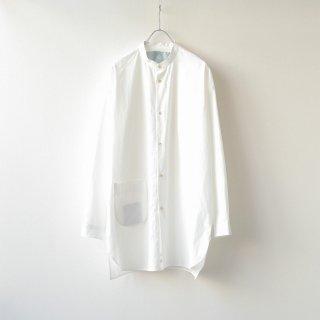 Dulcamara - スタンドカラーポケットシャツ (Offwhite)