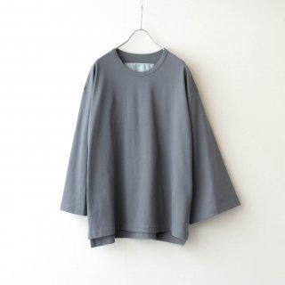Dulcamara - アシンメトリーロングスリーブT (Medium Gray)