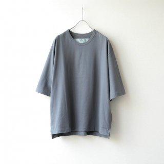Dulcamara - アシンメトリーミディアムスリーブT (Medium Gray)