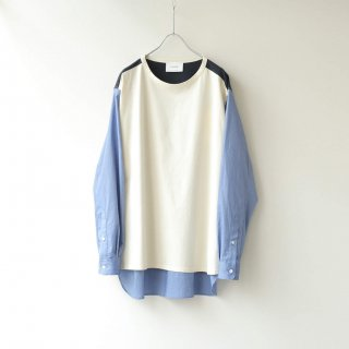 <img class='new_mark_img1' src='https://img.shop-pro.jp/img/new/icons54.gif' style='border:none;display:inline;margin:0px;padding:0px;width:auto;' />SOUMO - Pullover Shirt (Blue)