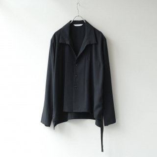 THEE - side slit L/S shirt (Black)