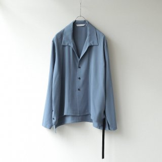 THEE - side slit L/S shirt (Blue)