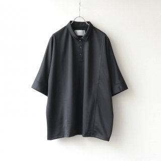 prasthana - dolman sleeve big polo (Black)
