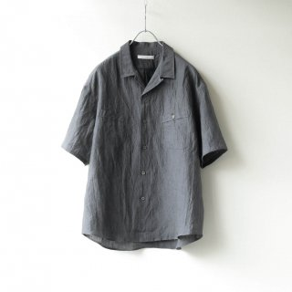 tilt The authentics - Round Pocket Open Collar Shirt (Gray)