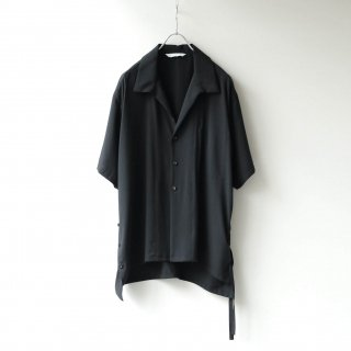 THEE - side slit S/S shirt (Black)