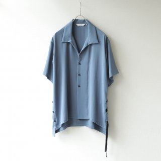 THEE - side slit S/S shirt (Blue)