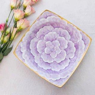 文山窯 牡丹(紫) −リムプレート