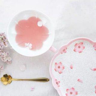 有田焼 薄ピンク釉虹彩桜コーヒー碗皿