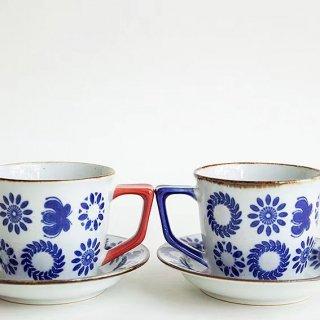 【波佐見焼】【翔芳窯】【サークルフラワー】【コーヒー碗/皿】 200ml
