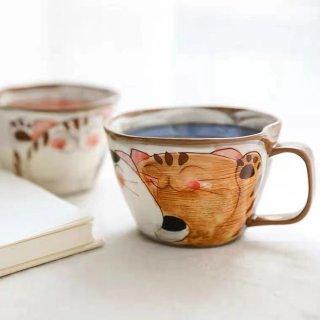 波佐見焼 菊祥陶器 仲良し猫 スープカップ