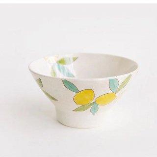 波佐見焼 藍染窯 レモン柄 茶碗