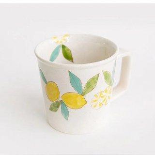 波佐見焼 藍染窯 レモン柄 マグカップ