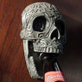 セルティック スカル ウォールボトルオープナー(栓抜き) Celtic Skull Wall Bottle Opener