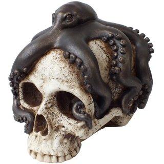 オクトパススカルヘッドオブジェ タコスカル Octopus Skull Head