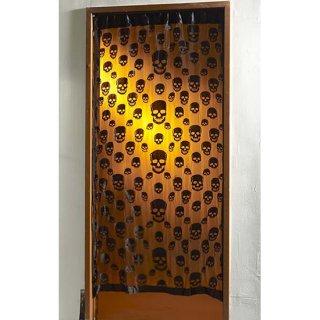 スカル ウィンドウカーテン Skull Window Curtain BK