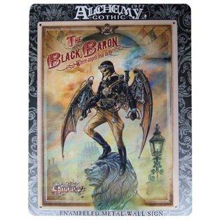 アルケミーゴシック・メタルサインプレート The Black Baron