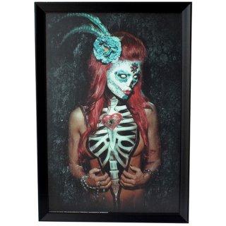 【同梱不可】アートフレーム XL CRYSTEX ART Key to my Heart DOD Skull Girl