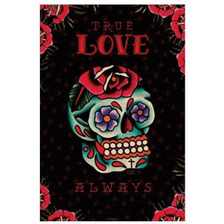 Cardxcore スカルアートポスター True Love Always