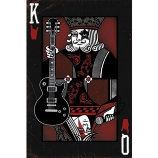 ROCKトランプポスター KING/QUEEN OF ROCK