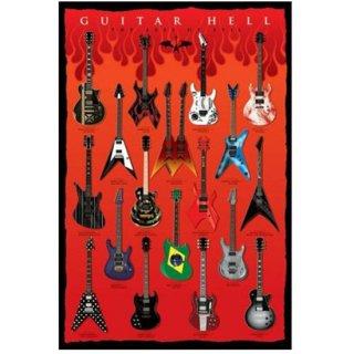 ギターヘル・アートポスター Guitar Hell -The Axes of Evil Electric
