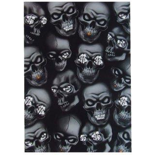 スカルポストカード HYBRID skulls